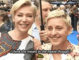 Watch and share Ellen Degeneres GIFs and Portia De Rossi GIFs by Reactions on Gfycat