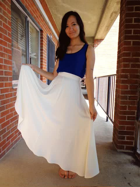 Watch and share Twirling-in-white-skirt GIFs on Gfycat