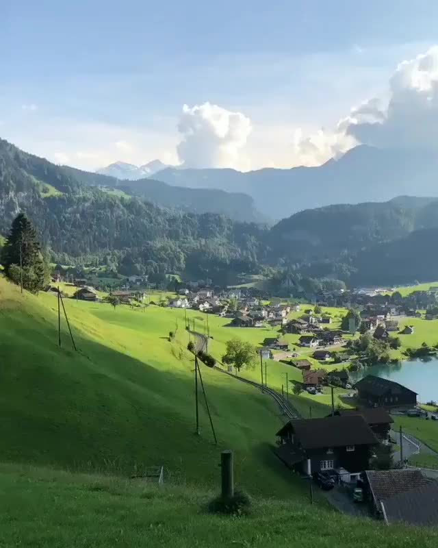 Watch Lake Lungern, Switzerland GIF on Gfycat. Discover more nature GIFs on Gfycat