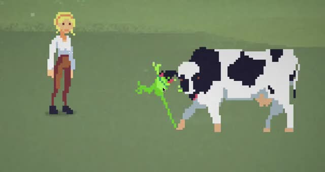 Watch and share Frog Caught By Cow GIFs by machineboy on Gfycat