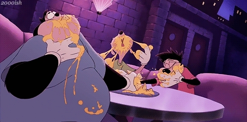 gfycatdepot, Stuffing your face with nachos [A Goofy Movie 1995 hungry animals cartoon disney] (reddit) GIFs
