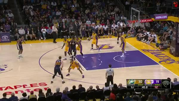 Watch Derrick Favors YAMS on the Lakers GIF by @iamaandrew on Gfycat. Discover more related GIFs on Gfycat