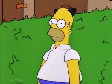 Watch and share Catgirl Homer GIFs by Rebecca Eveland on Gfycat