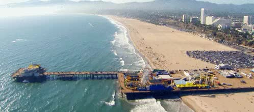 Watch and share Santa Monica Pier GIFs and To New Beginnings GIFs on Gfycat