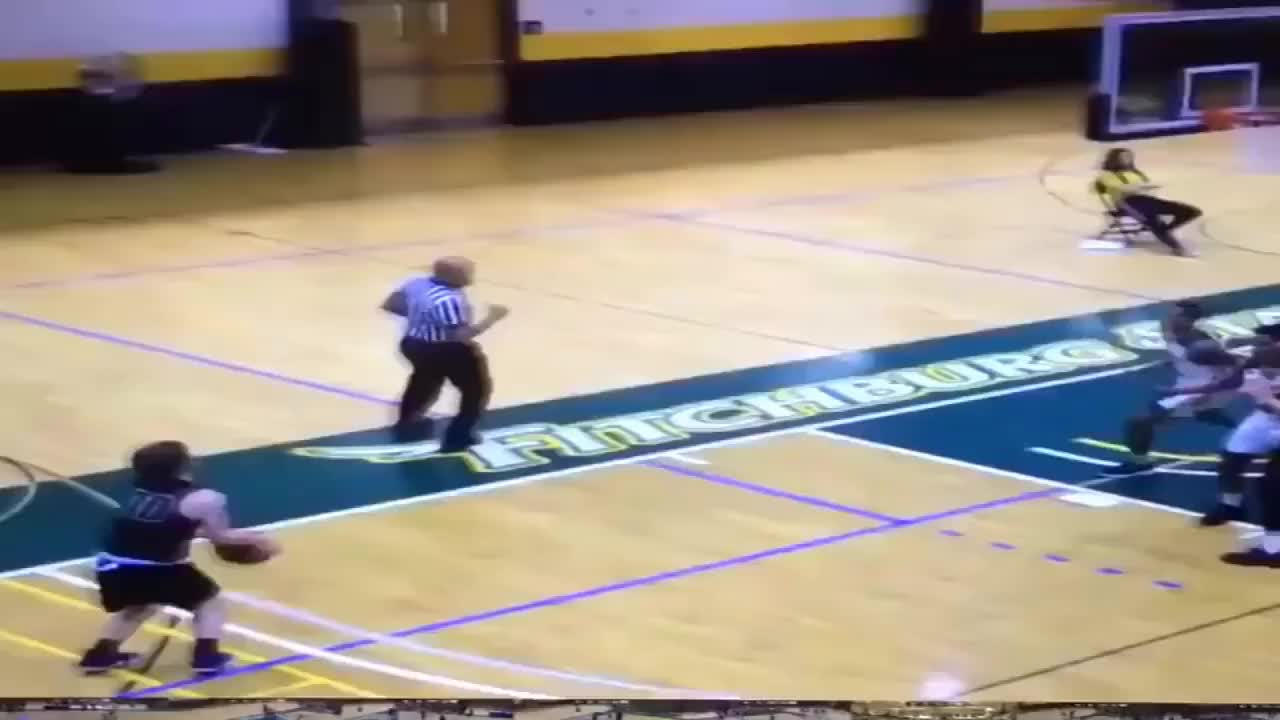 Game, nichols, College Basketball Player Elbows An Opponent In The Face After A Shot GIFs