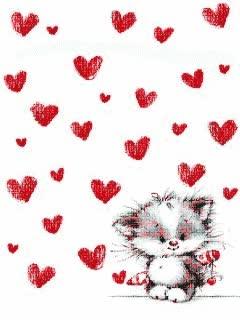 Watch and share Corazones De Amor Con Un Lindo Gatito GIFs on Gfycat