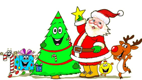 Watch and share Amusant Et Adorable Gif Père Noël Et Ses Amis animated stickers on Gfycat