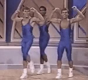 Watch this curated GIF by The GIF Smith (@sannahparker) on Gfycat. Discover more 1988, aerobics, dance, dancing, excited, friday feeling, happy, spandex GIFs on Gfycat