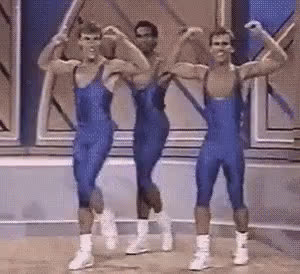 1988, aerobics, dance, dancing, excited, friday feeling, happy, spandex, 1988 Crystal Light National Aerobic Championship GIFs