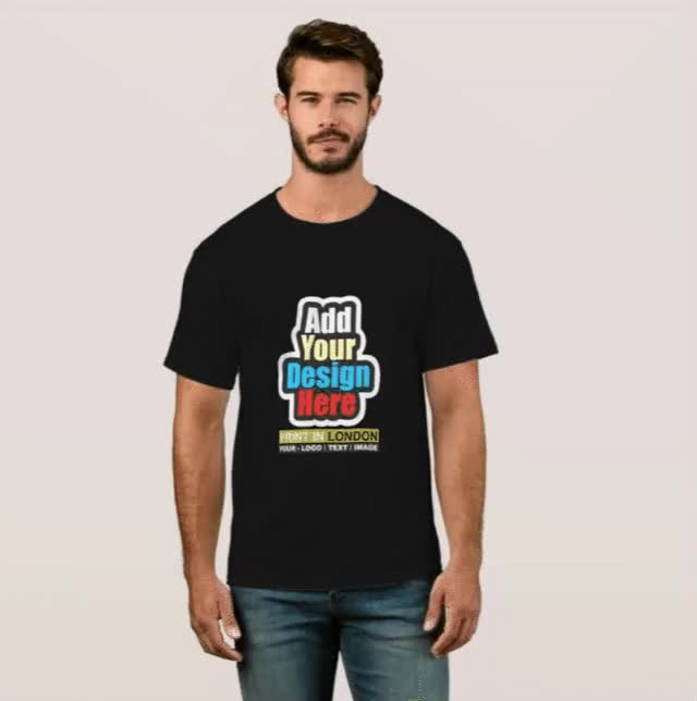 Watch and share Personalised Man's Black T Shirt Printing GIFs on Gfycat