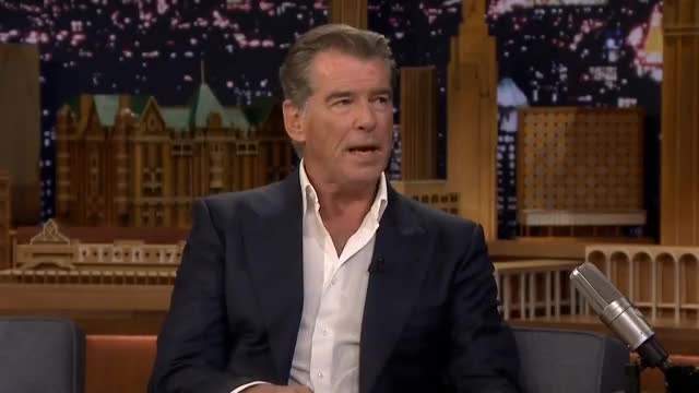 Watch and share The Tonight Show GIFs and Pierce Brosnan GIFs on Gfycat