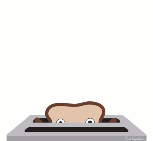 bread, breakfast, caro martini, good morning, greeting, hello, hi, toast, toaster, Hi! GIFs