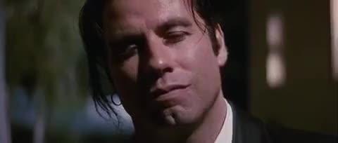 John Travolta, blow kiss, flirt, i love you, kiss, pulp fiction, vincent vega, John Travolta Blows Kiss GIFs