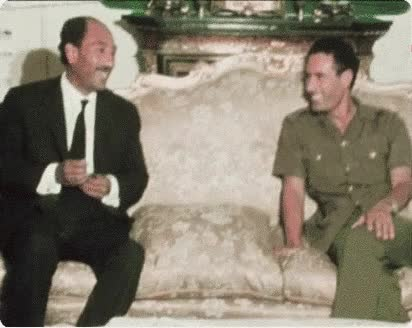 Watch Libyan Leader, Colonel Muammar Gadhafi with Egyptian President Anwar Sadat (20 April 1973) GIF by @magentalux on Gfycat. Discover more egypt, gadaffi, gaddafi, kadafhi, libya, muammaar gaddafi, qaddafi, sadat, young GIFs on Gfycat