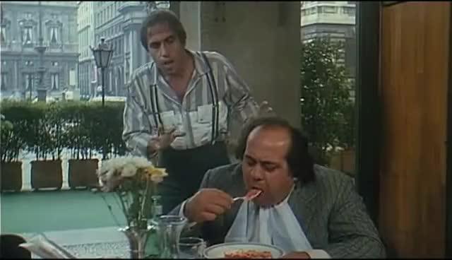Watch Bingo Bongo - Scena Ristorante - Adriano Celentano (1982) GIF on Gfycat. Discover more related GIFs on Gfycat