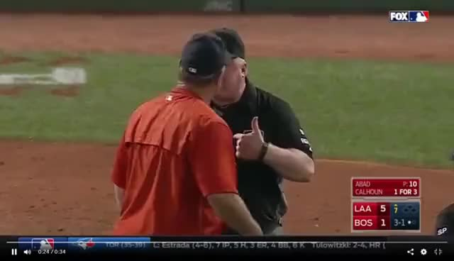 Watch John Farrell ejected after Balk Call: 6/24/2017 GIF on Gfycat. Discover more related GIFs on Gfycat
