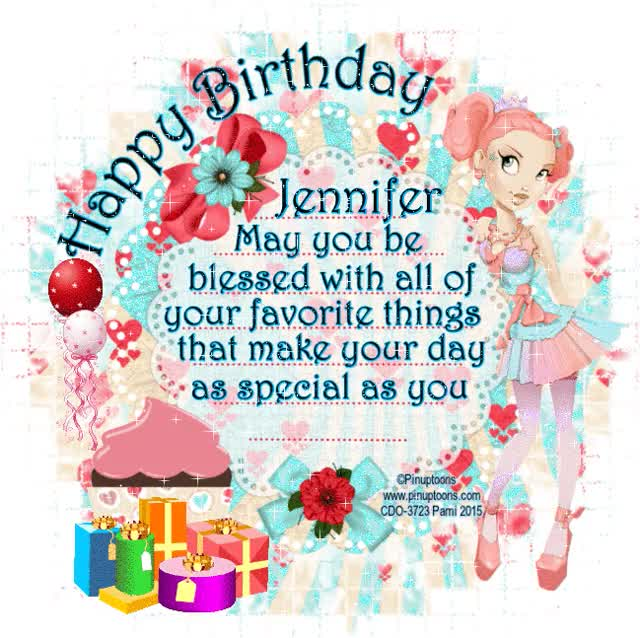 Watch and share Happy Birthday Jennifer GIFs on Gfycat