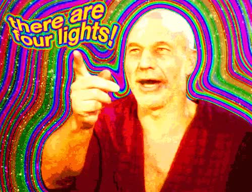 Watch and share There Are Four Lights GIFs on Gfycat