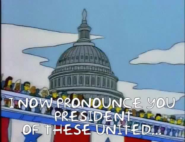Watch Trump Inauguration 2.0 GIF by @spacecadet06 on Gfycat. Discover more HighQualityGifs, thesimpsons GIFs on Gfycat
