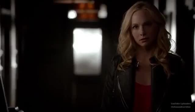 The Vampire Diaries Stefan throws Vervain Bomb at Caroline GIF