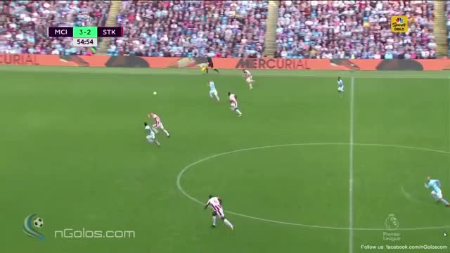 Watch and share (www.nGolos.com) Manchester City [4]-2 Stoke City - Gabriel Jesus 55' GIFs on Gfycat