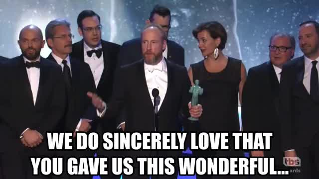Watch Accepting the Grammy at the SAG Awards GIF by GIF Reactions (@visualecho) on Gfycat. Discover more SAG Awards, SAGAwards, matt walsh, paul scheer GIFs on Gfycat