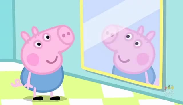 Watch and share Peppa Pig Mirrors GIFs on Gfycat
