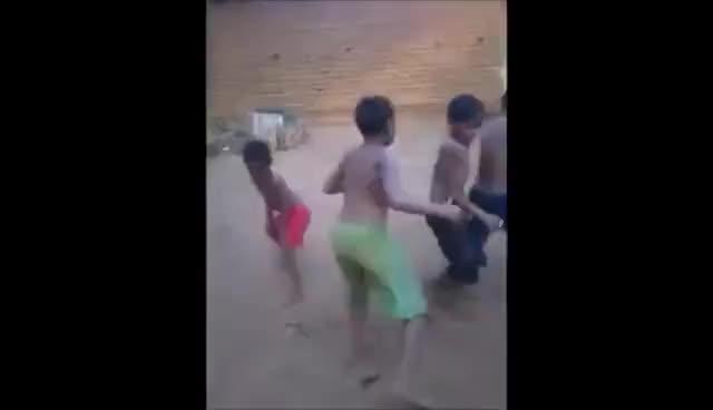 Watch Niños bailando con perro GIF on Gfycat. Discover more related GIFs on Gfycat