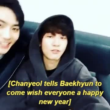 Watch Chanbaek New Year GIF on Gfycat. Discover more baekhyun, chanyeol, exo GIFs on Gfycat