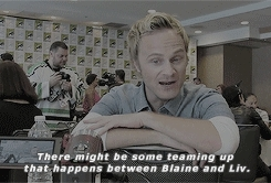 SDCC 2015, blaine debeers, bliv, by katie, cast: david anders, cast: interviews, david anders, izombie, izombieedit, izombie source GIFs