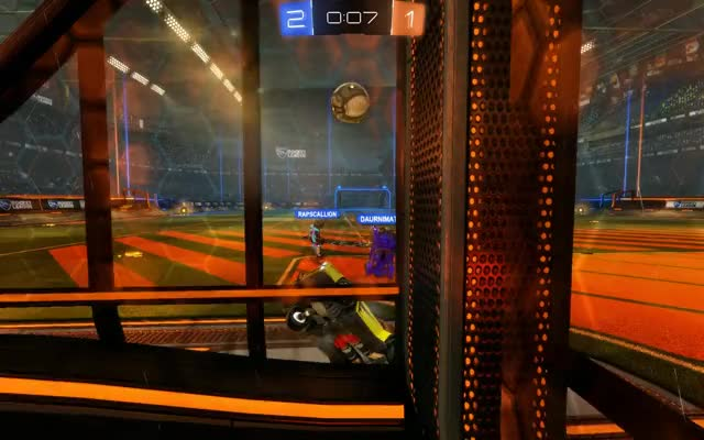 Watch and share Rocket League - No Time Left, Ball Carried Through Goal GIFs by sunnyjum on Gfycat