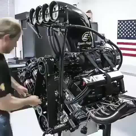 Powered by a custom Dragster 11000 hp HEMI V-8 Engine and power..😱🔥 GIFs