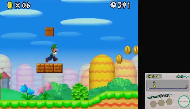 Watch and share New Super Mario Bros. DS - All 8 Worlds - Full Game (All Star Coins) GIFs on Gfycat