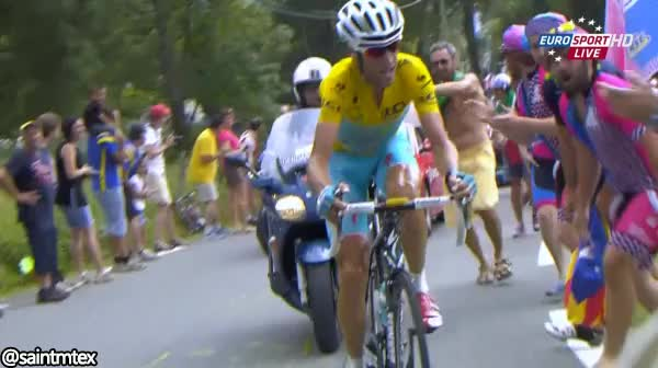 Watch Girls on phone gets hit by leader on today's Tour de France stage (reddit) GIF by @saintmtex on Gfycat. Discover more bicycling, funny, peloton GIFs on Gfycat
