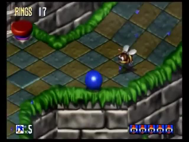 Sonic 3D Blast (Sega Saturn) Full Playthrough GIF by
