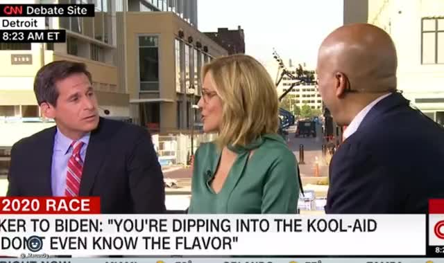 Watch and share Cory Booker Watching CNN Panel Discus His Kool Aid Comment From The Democratic Debate GIFs by MarcusD on Gfycat