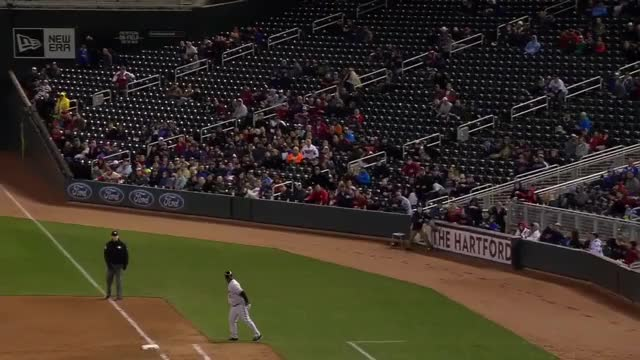 Watch and share Twins Ballboy Makes Great Catch GIFs on Gfycat