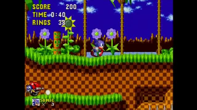 Watch and share Sonic The Hedgehog - Gameplay Part 1 Green Hill Zone GIFs on Gfycat