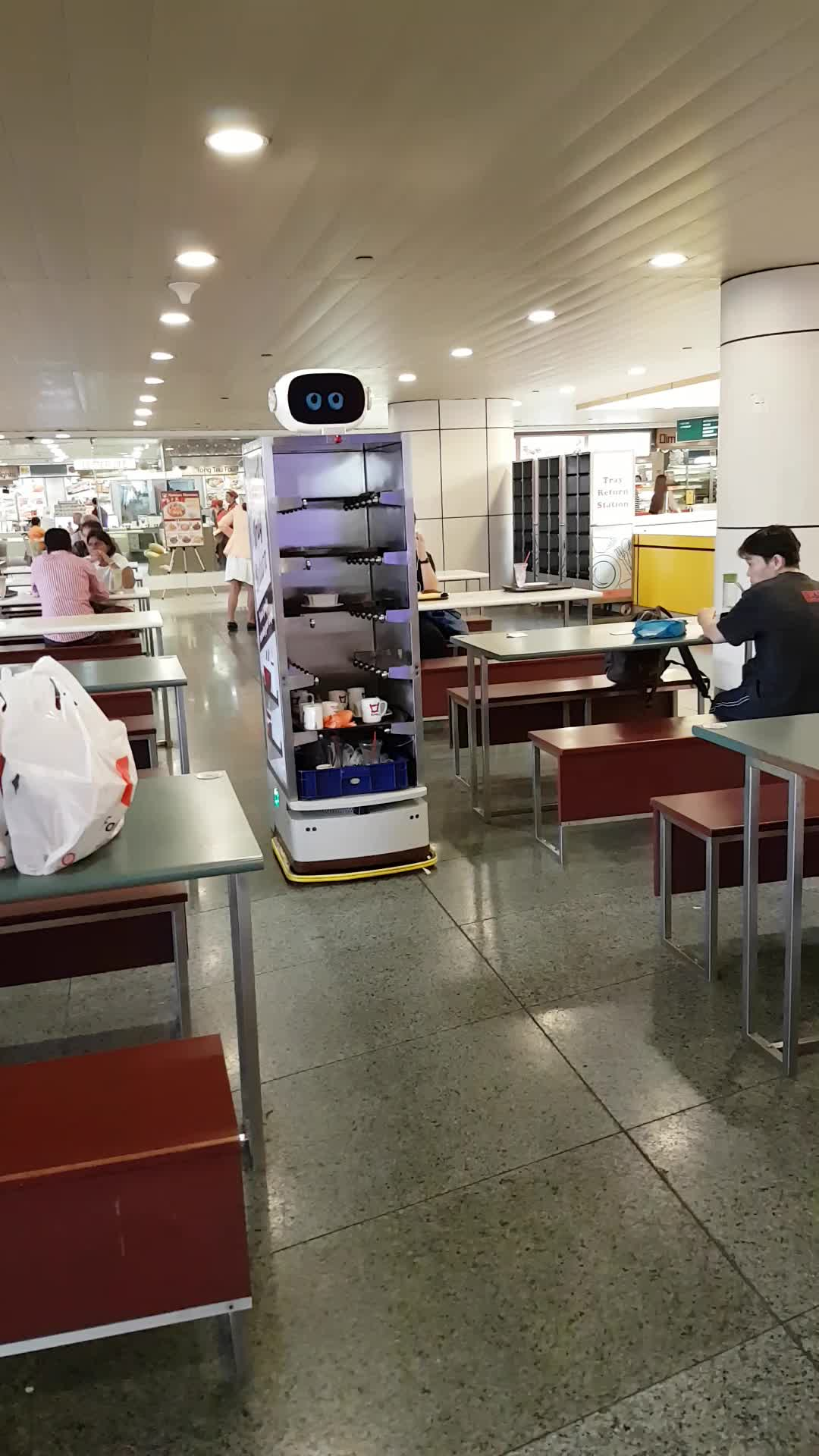 Robot, Singapore, automation, collect, tray, Tray collector GIFs