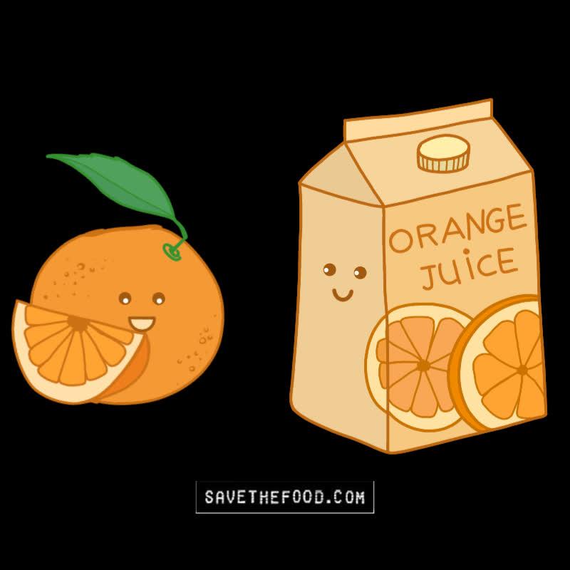 food, food waste, oj, orange, orange juice, oranges, save the food, Turn Oranges Into Orange Juice GIFs