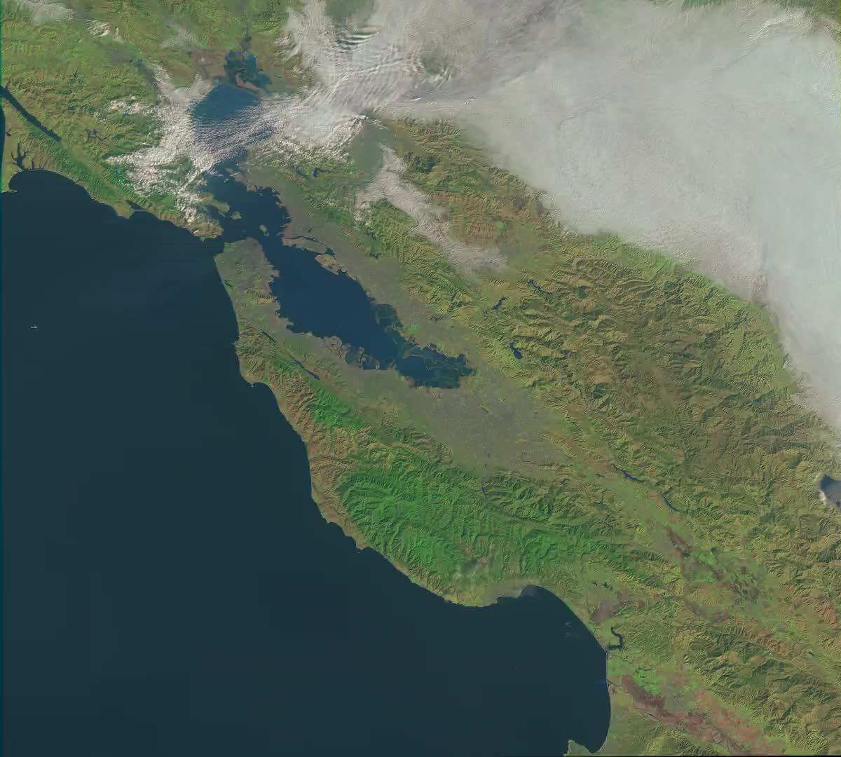bayarea, Bay Area landsat GIFs