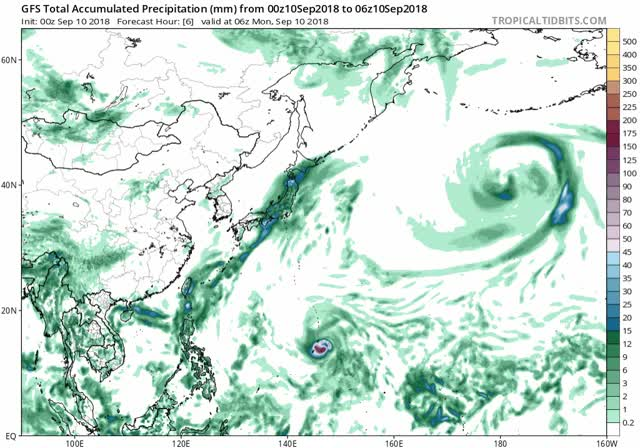 Watch Typhoon Mangkhut - September 10, 2018 - gfs apcpn wpac fh6-384 GIF by The Watchers (@thewatchers) on Gfycat. Discover more related GIFs on Gfycat