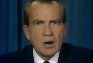 Watch and share Richard Nixon Resigns - 1974 GIFs on Gfycat