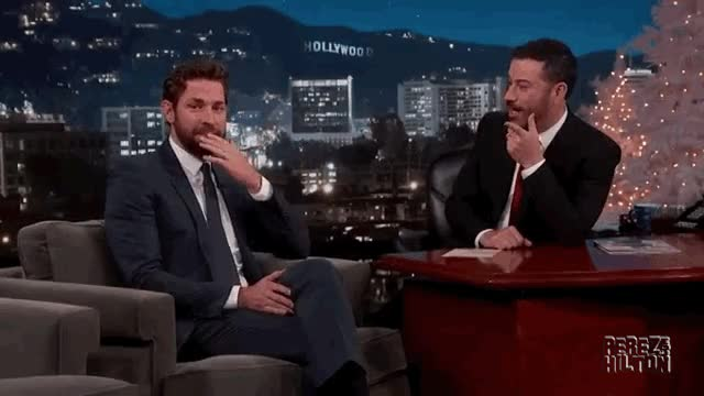 Watch and share John Krasinski GIFs and Jimmy Kimmel GIFs on Gfycat
