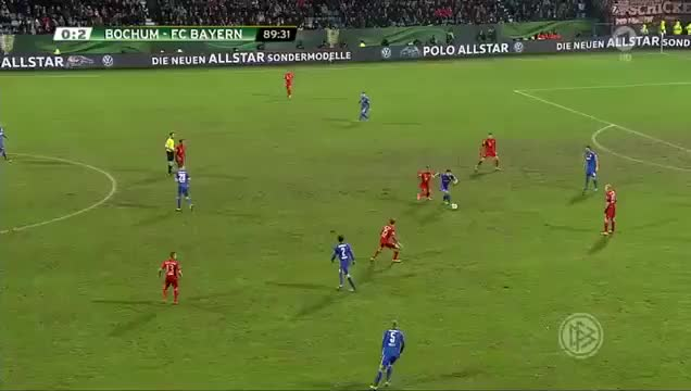Watch and share Robert Lewandowski Goal HD   Bochum 0 3 Bayern Munich   10 02 2016 GIFs on Gfycat