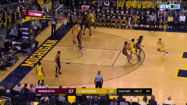 boomsports, College Basketball: Minnesota at Michigan   Big Ten Network   Clippit GIFs