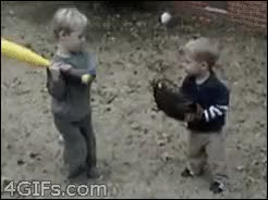 Watch and share Baseball Kid GIFs on Gfycat