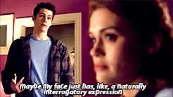 Watch stiles stilinski GIF on Gfycat. Discover more dylan o'brien, dylanobrien, holland roden, lydia martin, stiles, stiles stilinski, stydia, teen wolf, teenwolf, tw GIFs on Gfycat