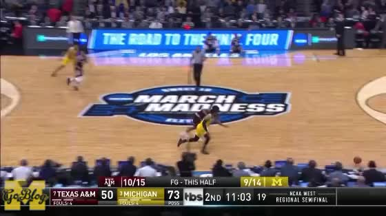 Watch and share Zavier Simpson GIFs and Basketball GIFs by MGoBlog on Gfycat