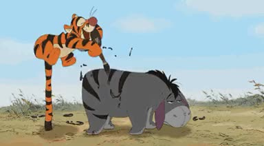 Watch this GIF on Gfycat. Discover more disney, eeyore, gif, tigger, winnie the pooh GIFs on Gfycat